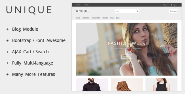 24. UniqueShop - Prestashop Theme