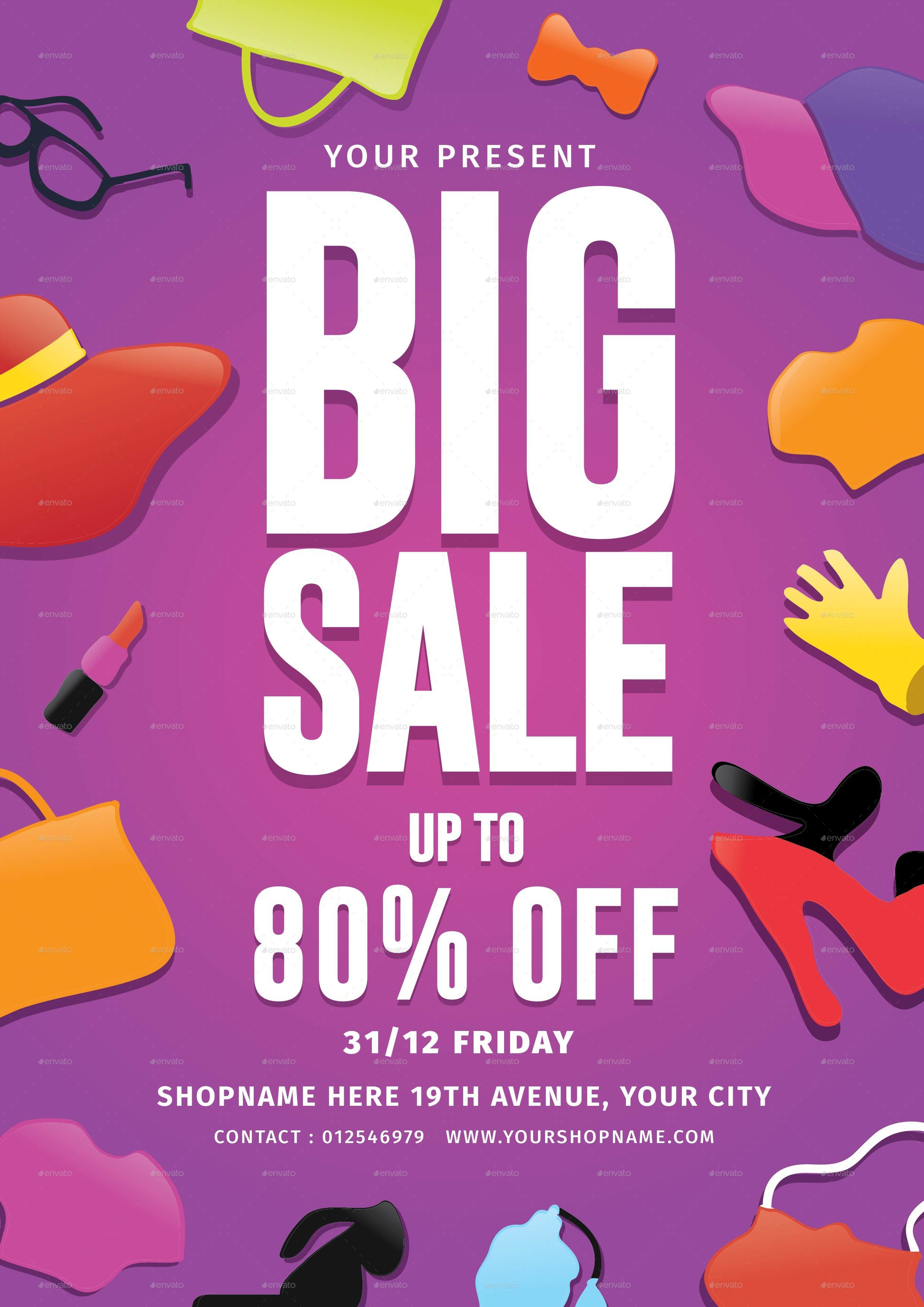 Big Sale Flyer & Voucher by lilynthesweetpea | GraphicRiver