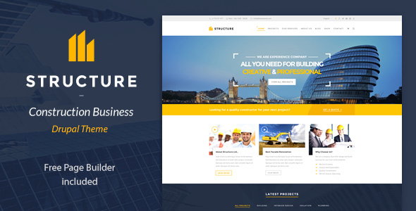 590.  large preview - Structure - Construction Drupal Theme