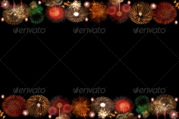 The frame of fire work - Stock Photo - Images