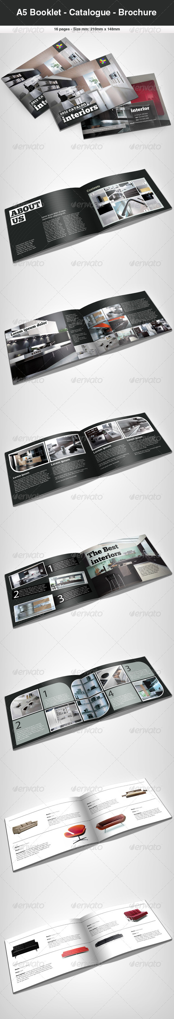 GraphicRiver A5 Booklet Catalogue Brochure 411324
