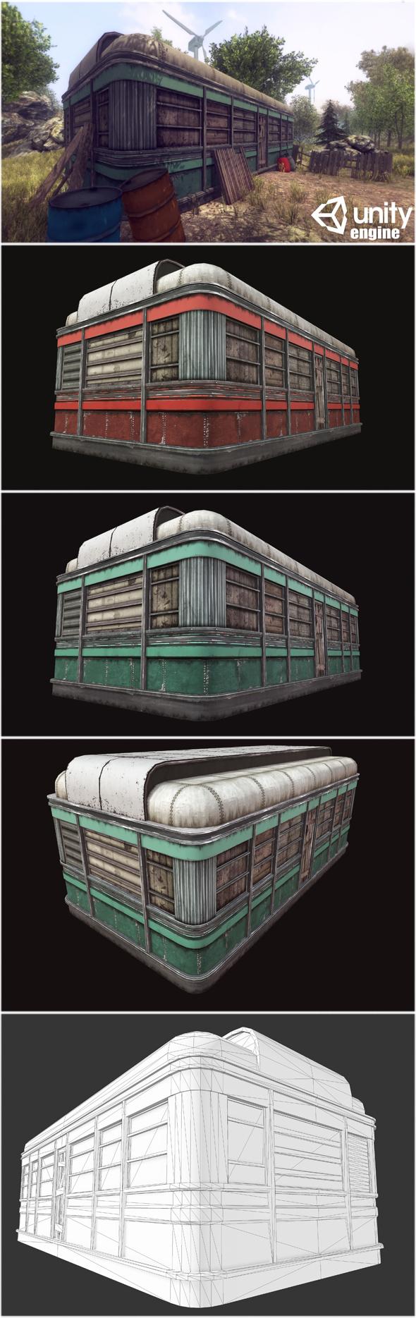 3DOcean Abandoned Diner 14334323