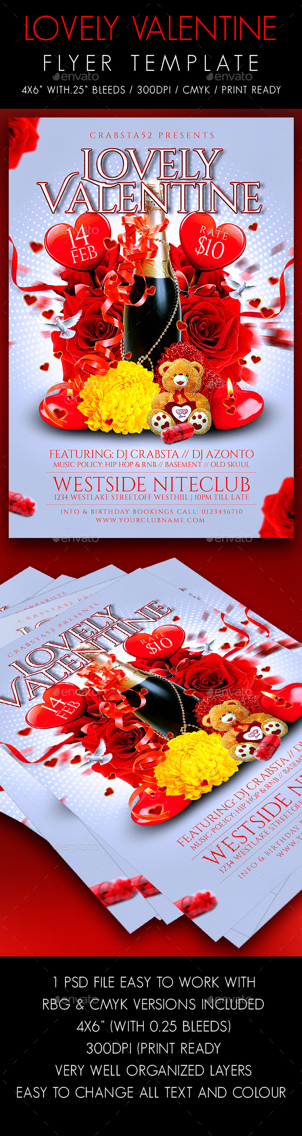 Lovely Valentine Flyer Template