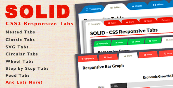 SOLID - CSS3 Responsive Tabs