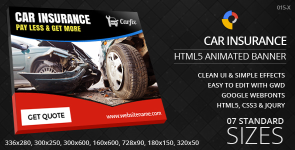 Top HTML5 Ad Themes And Templates – Car Ad Template