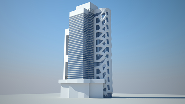 Low Building Design  - 3DOcean Item for Sale