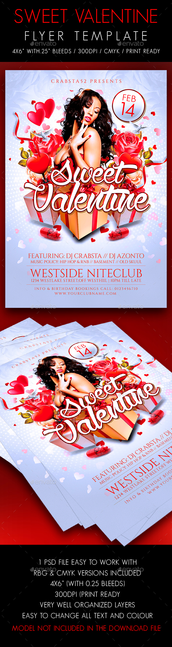 Sweet Valentine Flyer Template
