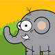 Cute Elephant in the Afternoon - GraphicRiver Item for Sale