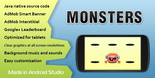 Monsters Game with AdMob and Leaderboard - CodeCanyon Item for Sale