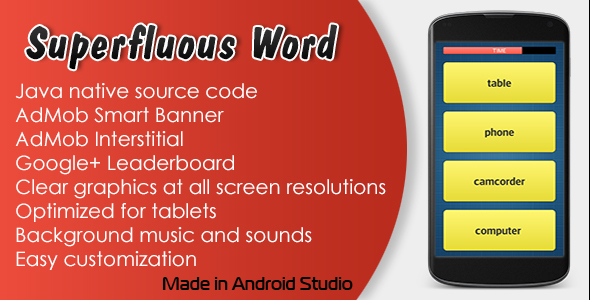 Superfluous Word Game with AdMob and Leaderboard - CodeCanyon Item for Sale