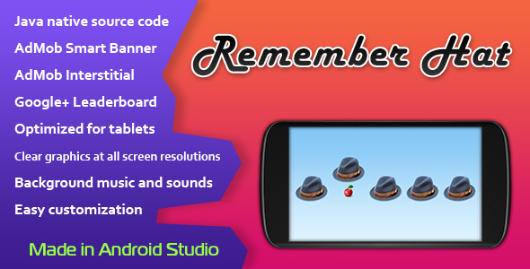 Remember Hat Game with AdMob and Leaderboard - CodeCanyon Item for Sale