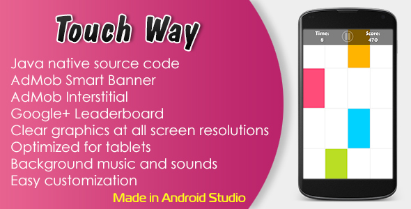 Touch Way with AdMob and Leaderboard