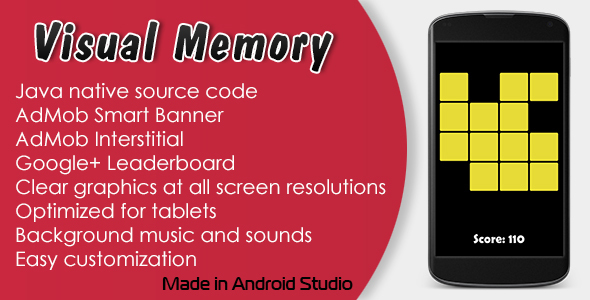 Visual Memory Game with AdMob and Leaderboard - CodeCanyon Item for Sale
