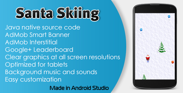 Santa Skiing with AdMob and Leaderboard - CodeCanyon Item for Sale
