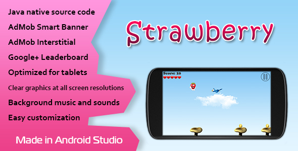 Strawberry Game with AdMob and Leaderboard - CodeCanyon Item for Sale