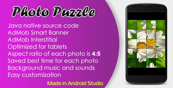 Photo Puzzle Game with AdMob - CodeCanyon Item for Sale