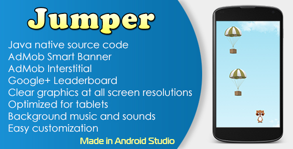 Jumper Game with AdMob and Leaderboard - CodeCanyon Item for Sale