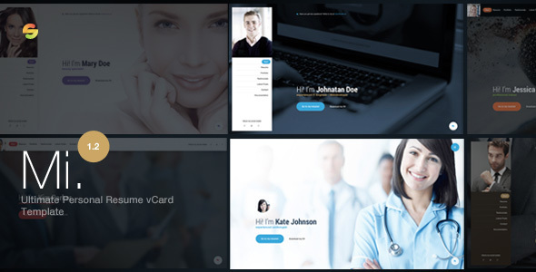 3. Mi. - Ultimate Personal Resume vCard Template
