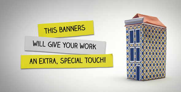 VideoHive Paper Banner Animation 14137602