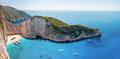Panoramic view of Navagio Bay