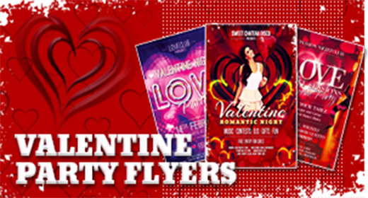 Valentine Day Party Flyer Templates