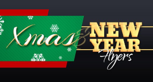 Christmas and New Year Eve Party Flyer Templates