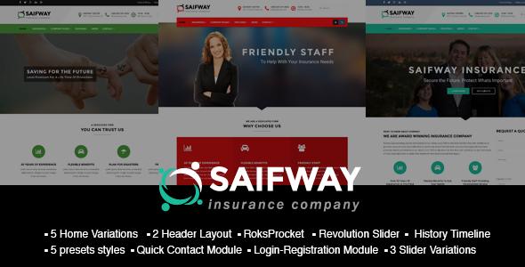 saifway-insurance-agency-html5-template  SaifWay – Responsive Insurance Agency Joomla Template (Business ...