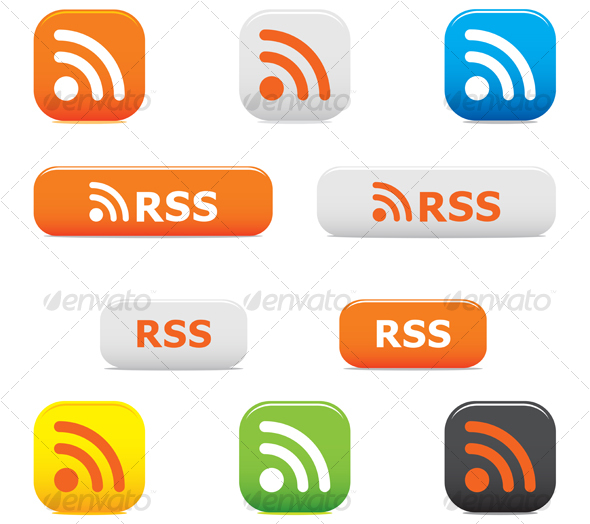 GraphicRiver Rss buttons and symbols 56796