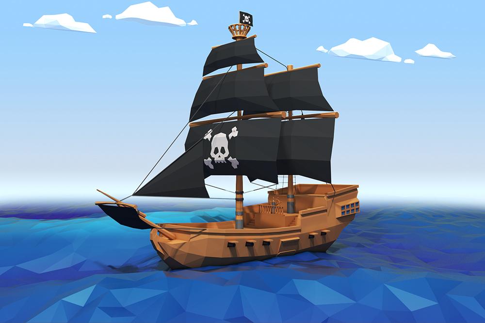 Low Poly Pirate Ship By Royalfx 3docean