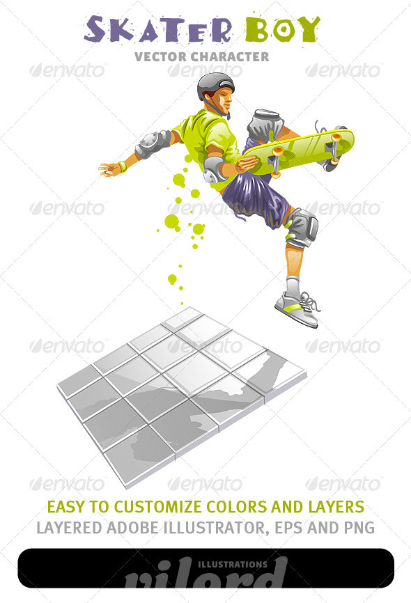 Skater Boy Vector - Sports/Activity Conceptual