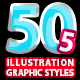 50 Illustrator Graphic Styles Bundel Vol.5