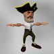Cartoony Pirate Model