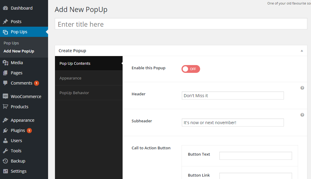 how to add a subscribe pop up to wordpress