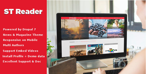 Image of Reader - News & Magazine Drupal Theme