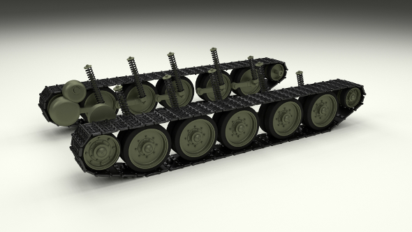T-34 Tank Tracks and Suspension - 3DOcean Item for Sale