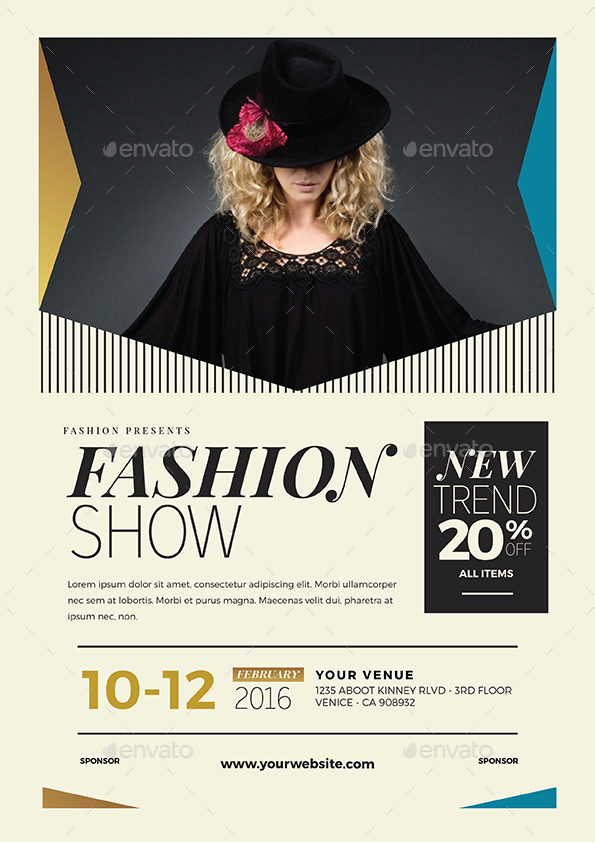 fashion show flyer by guuver graphicriver. Black Bedroom Furniture Sets. Home Design Ideas