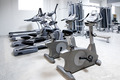 elliptical cross trainer, stationary bicycle treadmill