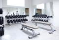 Fitness club weight training equipment gym