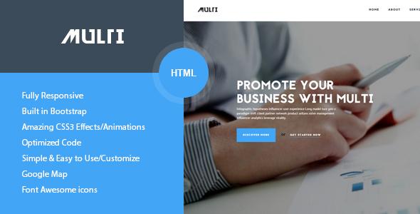 Multi - Friendly Multi-Purpose HTML Template
