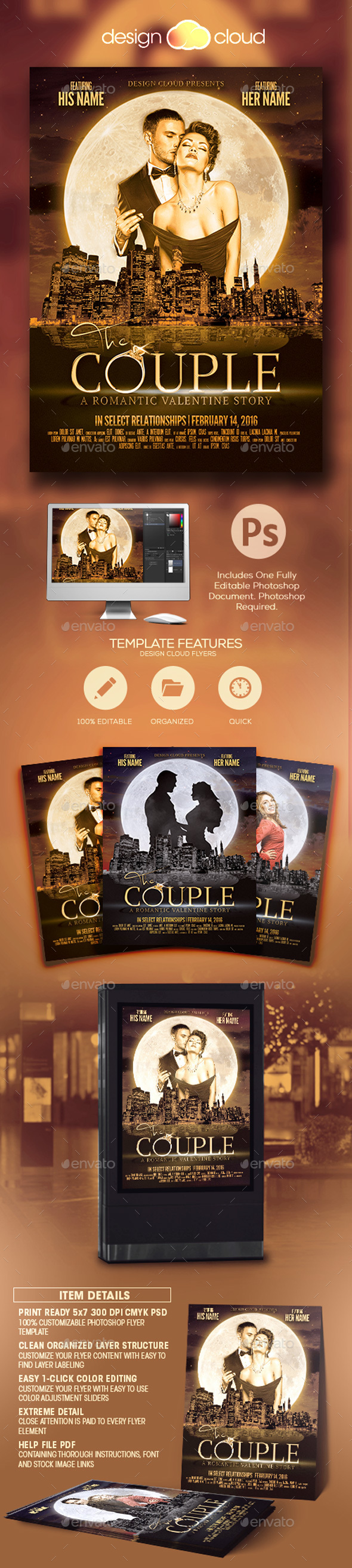 The Couple - Valentine Flyer Template