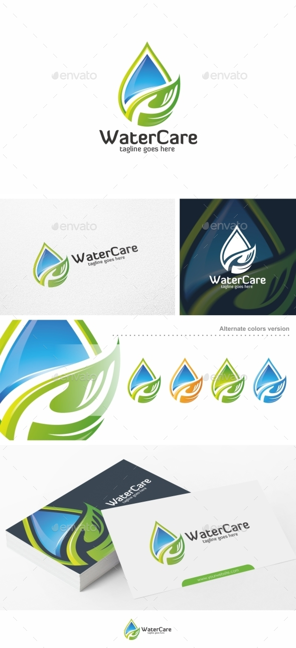 Water Care - Logo Template