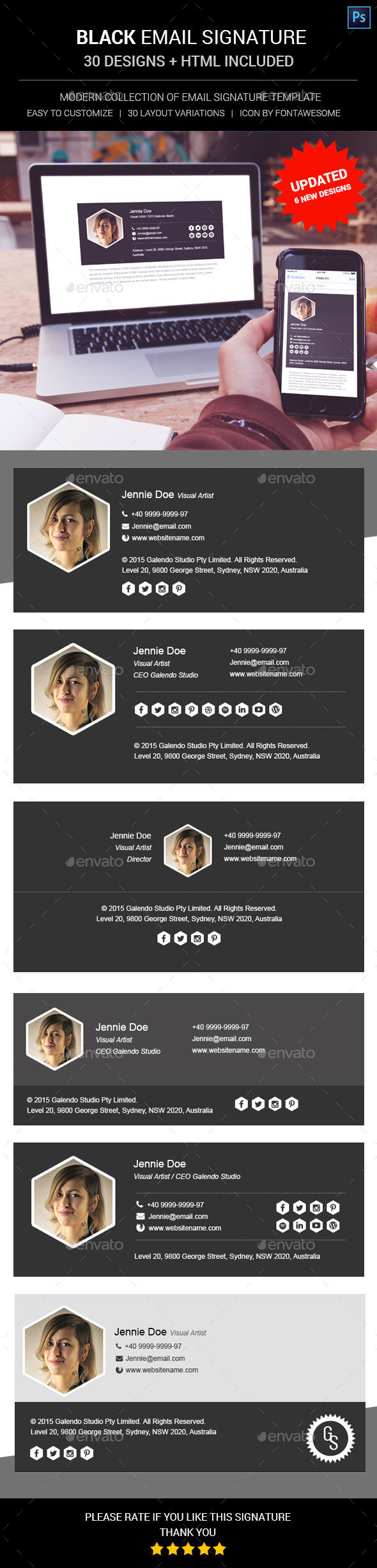 Email Signature Graphics, Designs & Templates from GraphicRiver