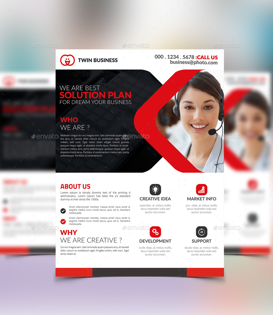 corporate flyer design by twingraphic graphicriver
