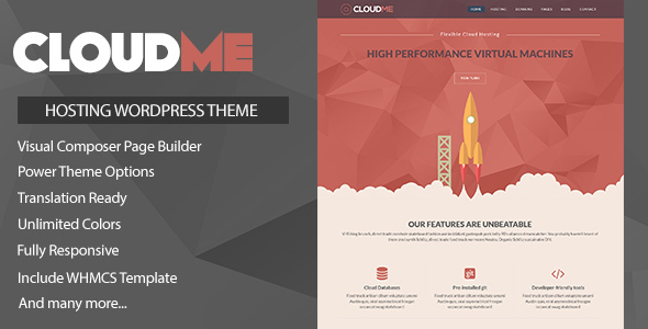 Download Cloudme Host - WordPress Hosting Theme + WHMCS nulled download