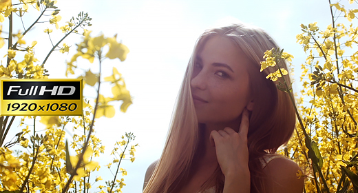 Girl In The Tall Flowers