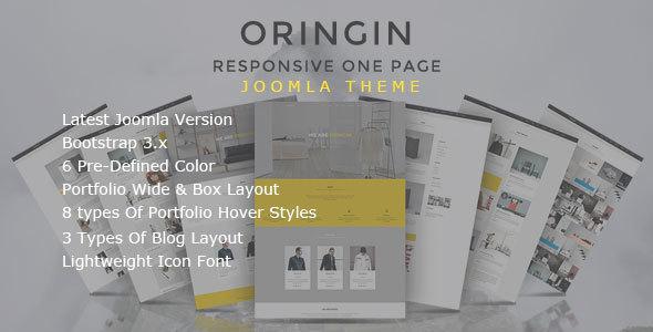 Image of Oringin - Onepage JOOMLA Template