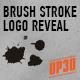 Brush Stroke Logo Reveal