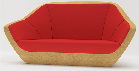 Corques Sofa - 3DOcean Item for Sale