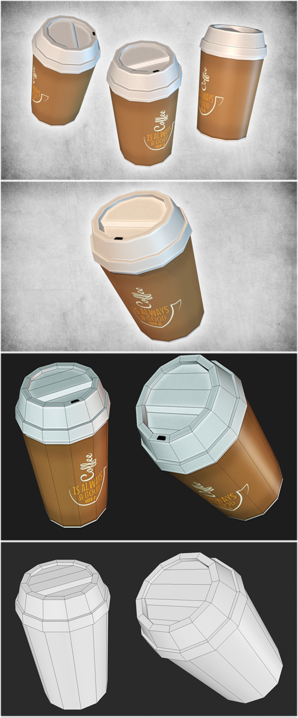 Coffee Cup Take Away - 3DOcean Item for Sale