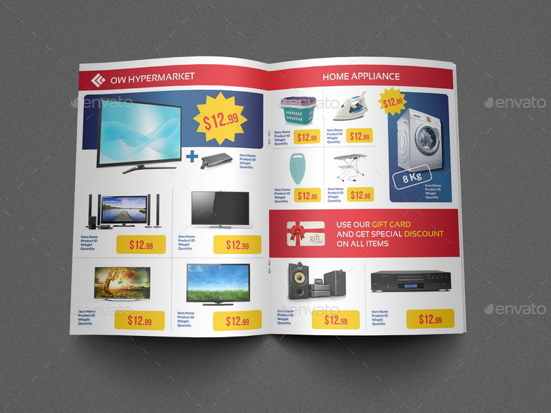 Supermarket Products Catalog Brochure Template Vol2 by OWPictures – Product Brochure Template